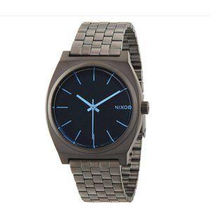Nixon Time Teller Gunmetal/Blue Crystal Watch